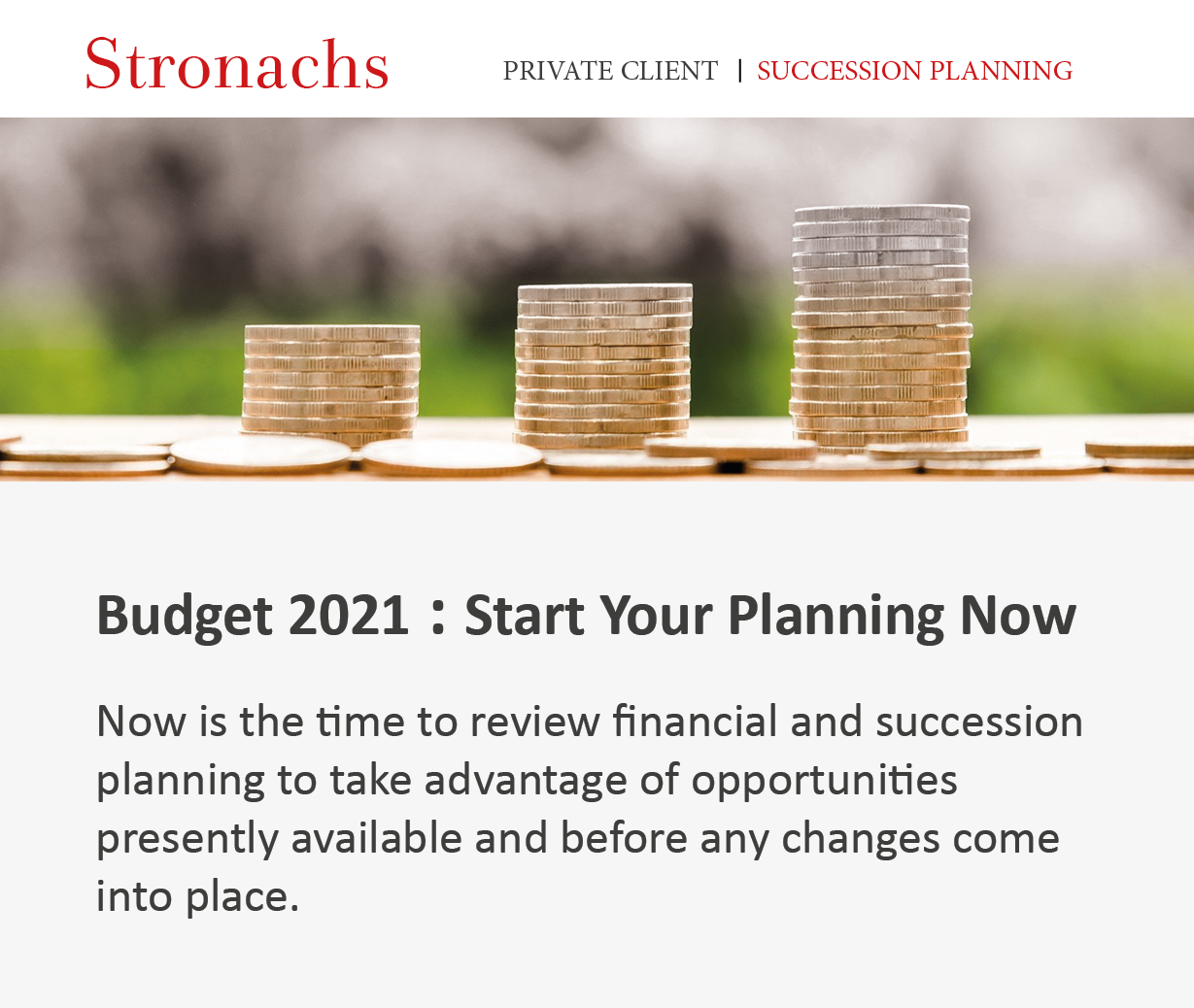 Budget 2021 - Start Your Planning Now